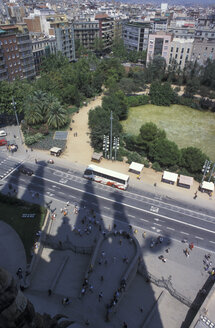 Spain, Barcelona, Shadow of Sagrada Familia - PM00227