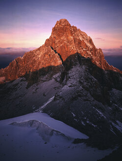 Mt. Kenya main summit from Point Lenana at sunrise - 00010RM