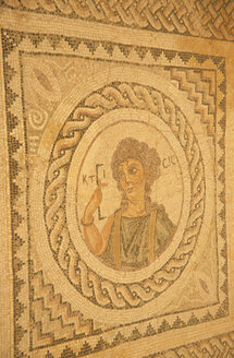 Romanesque mosaic floor of baths of Kourion - 00675MS