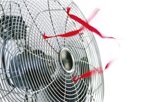 Ventilator and red bands, close-up - 00028MN