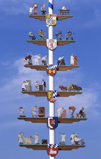 Maypole in Cham, Bavaria, Germany - HSF00923