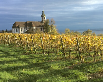 Baroque Church in autumn, Birnau, Bodensee 2002, Germany - SH00014