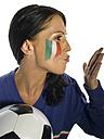 Italian female soccer fan - LMF00037