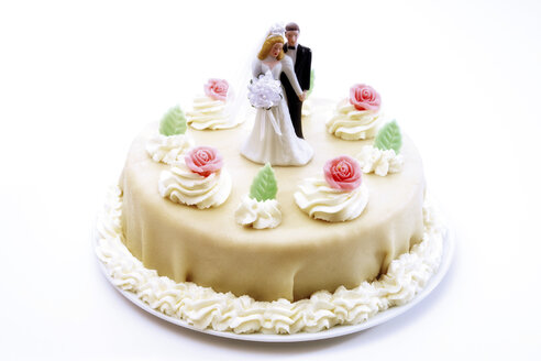 Wedding cake topper with bride and groom - 02497CS-U