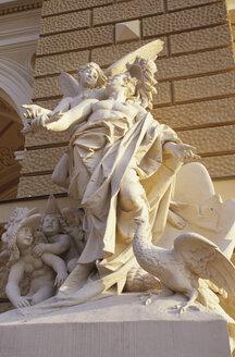 Odessa, Ukraine, Sculpture in front of the opera - MS01583