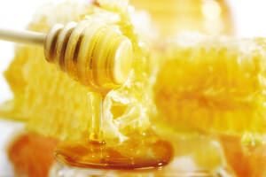 Honey spoon and honeycomb - 02995CS-U
