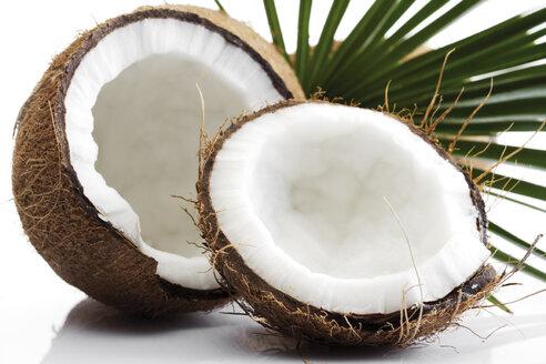 Split coconuts, close-up - 03030CS-U