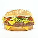 Cheeseburger, close-up - WESTF00443