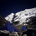 Nepal, Solo Khumbu, Island Peak with Base Camp at night - RM00135