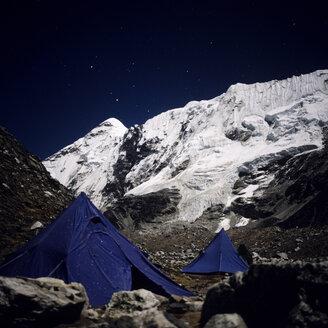 Nepal, Solo Khumbu, Island Peak with Base Camp at night - RM00135