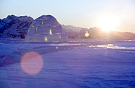 Switzerland, Toggenburg, traditional igloo in mountains - KM00162
