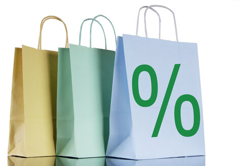 Shopping bags with percent-sign - 00109LR-U
