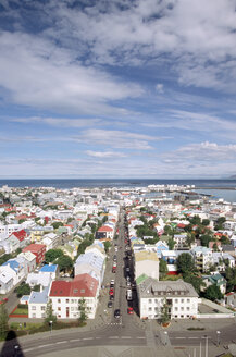 Iceland, Reykjavik, elevated view - UMF00143