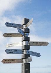 Signpost, close-up - KMF00532