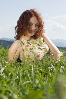 Young woman in meadow - LDF00212