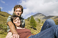 Young couple resting in mountains - BABF00183