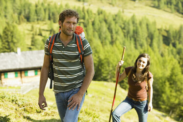 Young couple in mountains - BABF00177