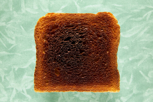 Slice of toast, close-up, elevated view - THF00377