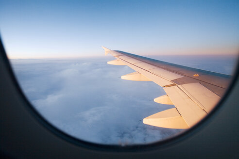 View out of aircraft, aerofoil - UKF00108