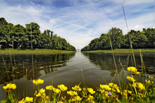 Germany, Munich, canal in park of Nymphenburg castle - MB00621