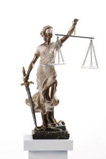 Justitia figurine on socket - 06164CS-U