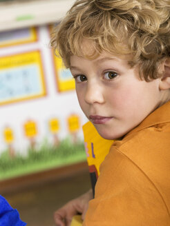 Boy (4-7) in classroom, close-up - WESTF04473