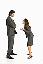 Business woman laughing at business man - WESTF04664