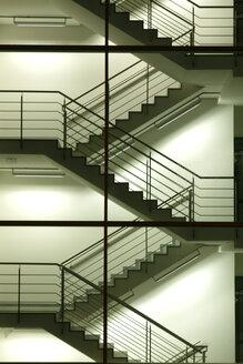 Germany, Munich, Brogebude, staircase - TCF00019