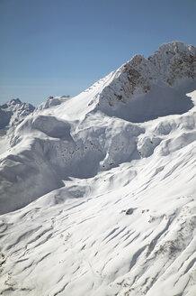 Austria, Vorarlberg, Lech, snow covered mountains - MRF00909