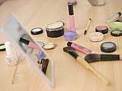 Cosmetics on table, close-up - KMF00921