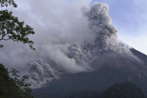 Indonesia, Smoke Rising from Volcano - RM00161