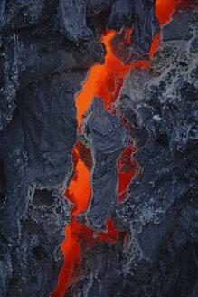 Reunion Island, Piton de la Fournaisse Volcano, lava flow - RM00158