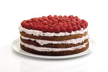 Raspberry cream cake, close-up - 06866CS-U
