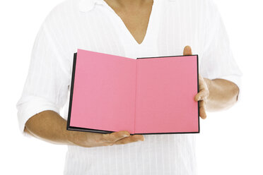 Man holding diary, close-up - PKF00112