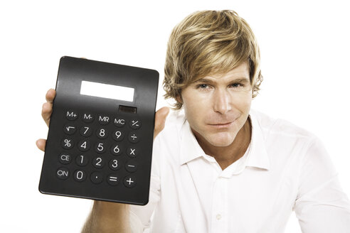 Man holding calculator, close-up - PKF00097