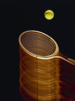 Tennis ball and racket, close-up - MRF00946