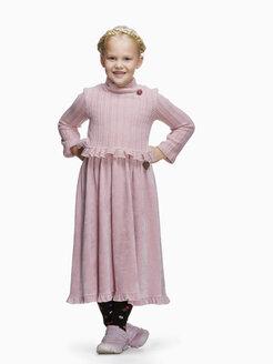 Blond girl (6-8) in a dress, portrait - KMF01114