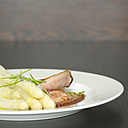 Asparagus with bacon, close-up - CHK00863