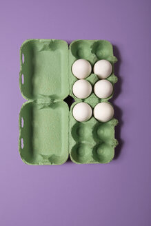 Eggs in box, elevated view - MNF00115