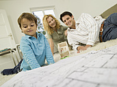 Young family in living room - WESTF06660