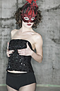 Woman in lingerie wearing a mask - TH00695