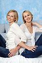 Two blonde women, smiling, portrait - DKF00143