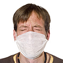 Man wearing a Surgical Mask, portrait - MU00146