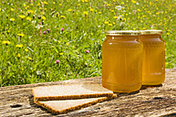 Slices of bread and Honey jars - HHF02102