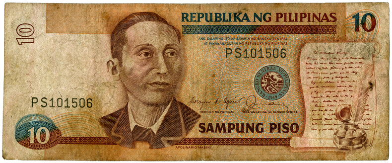 Bank note, ten Philippine pesos - TH00734