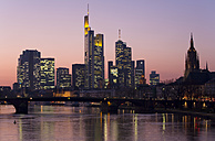Germany, Frankfurt, River Main and financial district, - WD00065