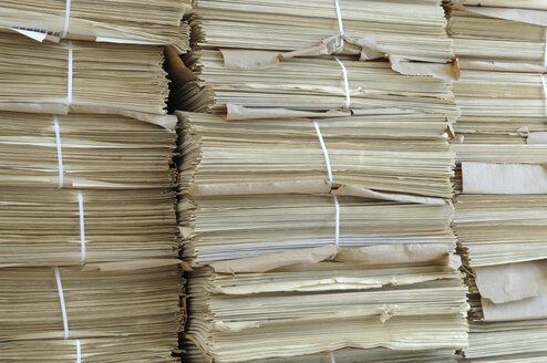 Stacks of paper, close up - CRF01417