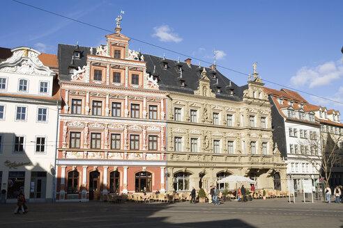 Germany, Erfurt, fish market, historic buildings - UK00153