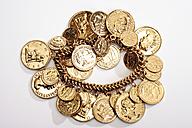 Bracelet with golden coins - 08628CS-U
