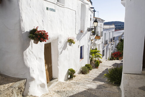 Spain, Andalusia, Frigiliana, alleyway - GWF00631